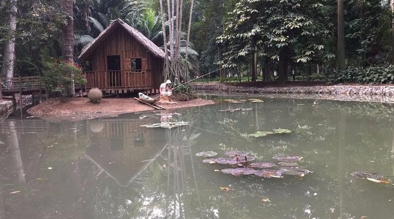 Casa do pescador semelhante às moradias tradicionais amazônicas (Foto: Cristina Indio do Brasil/Agência Brasil)