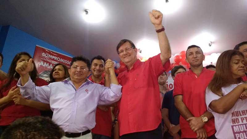 Resultado de imagem para JOSÉ RICARDO EM CAMPANHA PT AMAZONAS