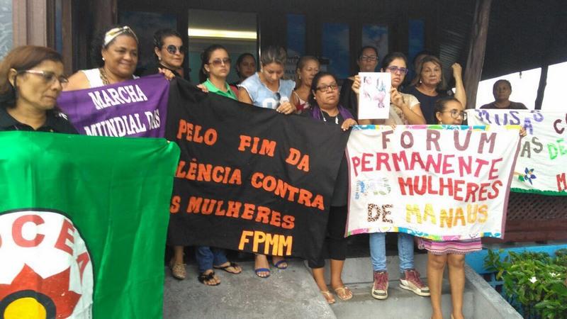 Maria Lídia - Manifestação Manaus (Foto: Francy Guedes/Divulgação)