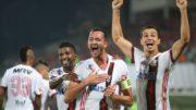 Rever festeja gol em vitória do Flamengo pelo Brasileirão (Foto: Gilvan de Souza/Flamengo.com)