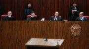 Ministros do TSE julgam ação pede a cassação da chapa Dilma-Temer, das eleições presidenciais de 2014 (Foto: José Cruz/ABr)