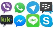 Aplicativos de mensagens como WhatsApp, Hangout e Telegram não terão valor adicionado (Foto: Internet/Reprodução)