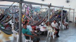 Um grupo de índios Warao está alojado em abrigo do Estado na zona leste de Manaus (Foto: MPF/Divulgação)