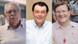 Amazonino, Eduardo Braga e José Ricardo foram denunciados por uso eleitoral de igrejas (Foto: Divulgação)