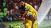 Berril marcou o primeiro gol do Flamengo no triunfo obtido em casa (Foto: Gilvan de Souza/Flamengo)