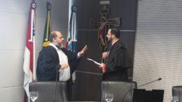 O advogado de Braga, Daniel Nogueira (à esquerda), com o procurador eleitoral Victor Ricelly (Foto: Henderson Martins/ATUAL)