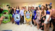 David Almeida e Robério raga anunciaram patrocínio aos grupos folclóricos (Foto: Bruno Zanardo/Secom)