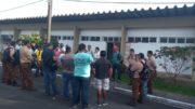 Vigilantes estiveram na Sejel para exigir pagamento de salários atrasados (Foto: Divulgação)Vigilantes estiveram na Sejel para exigir pagamento de salários atrasados (Foto: Divulgação)