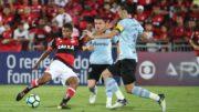 Grêmio apertou a marcação e dificultou jogadas de ataque do Flamengo (Foto: Gilvan de Souza/Flamengo)