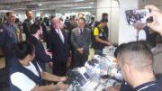 Gilmar Mendes acompanhou lacre de urnas eletrônicas no TRE-AM (Foto: Henderson Martins/ATUAL)