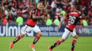 Guerrero marcou um dos gols da vitória do Flamengo sobre o São Paulo (Foto: Gilvan de Souza/Flamengo.com)