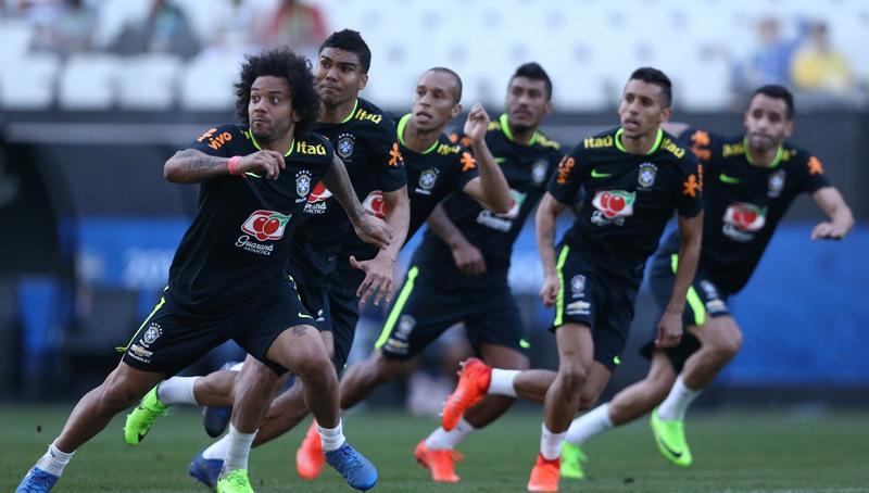 Treino da Seleção Brasileira, que caiu para segundo lugar no ranking da Fifa (Foto: Lucas Figueiredo/CBF)