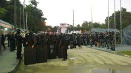Soldados do Exército e policiais militares participaram da vistoria nos presídios de Manaus (Foto: Seap-AM/Divulgação)