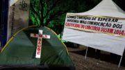 Aprovados montaram acampamento há 13 dias em frente à sede da usam (Foto: Divulgação)