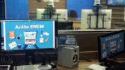 Centro de Mídias da Seduc transmite ao vivo as aulas de preparação ao Enem (Foto: Seduc/Divulgação)