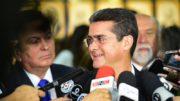 David Almeida apresentou números das finanças do Estado ao TCE para rebater acusação de 'caos' nas contas públicas (Foto: Bruno Zanardo/Secom)