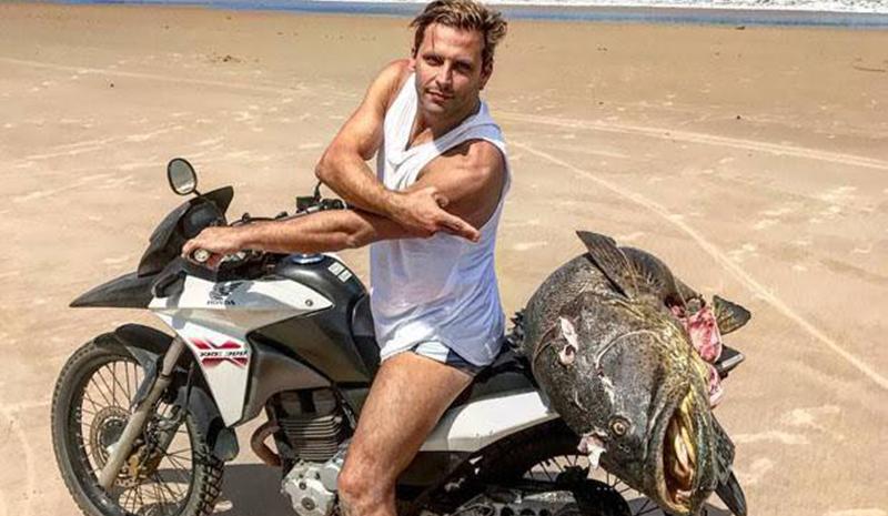 Henri Castelli é multado pelo Ibama por pescar peixe ameaçado de extinção