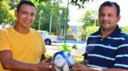 Jeremias e Delmo estarão em campo em jogo beneficente entre estrelas do futebol amazonense (Foto: Mauro Neto/Sejel)