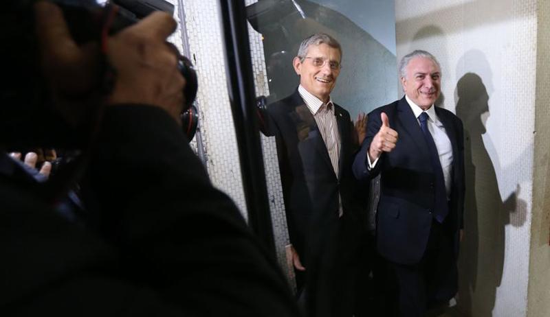 Presidente Michel Temer jantar na casa do primeiro vice-presidente da Câmara deputado Fábio Ramalho