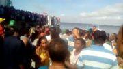 Sobreviventes e parentes de vítimas do naufrágio do Pará em Porto Moz, no sul do Pará (Foto: Divulgação)