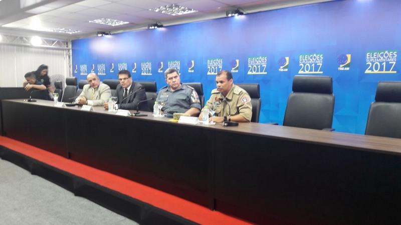 Autoridades do sistema de segurança da eleição suplementar apresentaram balanço de ocorrências (Foto: ATUAL)