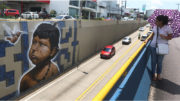 Temática indígena domina obra de grafite no acesso ao túnel da Avenida Darcy Vargas (Foto: Ricardo Oliveira/Semcom)