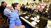 David Almeida anunciou a empresários projeto para anular aumento do ICMS (Foto: Valdo Leão/Secom)
