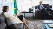 Procuradora-geral da República em visita ao ministro Gilmar Mendes, do STF e presidente do TSE (Foto: Antonio Cruz/ABr)