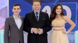 ilvio Santos, Dudu Camargo e Maisa Silva