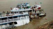 barco naufraga no Solimções