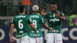 Borja marcou duas vezes no empate do Palmeiras com o Cruzeiro (Foto: Cesar Greco/Palmeiras/Divulgação)
