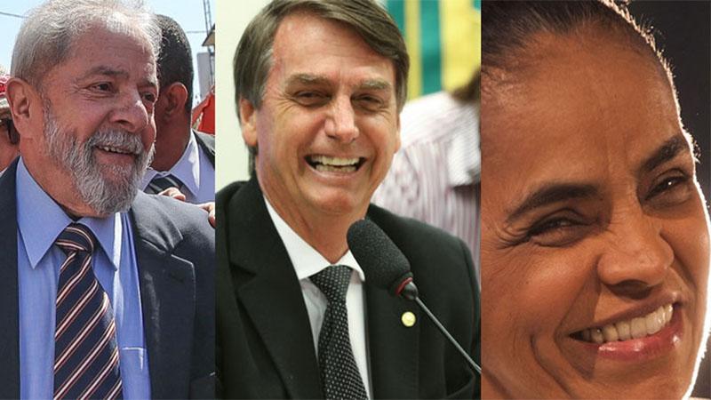 Sem Lula, Bolsonaro e Marina Silva disputariam 2° turno, revela pesquisa