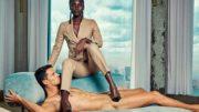Mulheres aparecem vestindo terno em posição de poder sobre os homens em peças publicitárias (Foto: Divulgação)