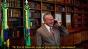Planalto divulgou áudio de conversa entre Michel Temer e o repórter (Foto: Twitter/Reprodução)