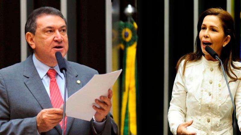 Extremos: Átila Lins foi o que mais apresentou justificativas para faltas e Conceição Sampaio é a única assídua na Câmara dos Deputados (Fotos: Ag. Câmara)