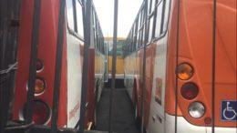 Detran apreendeu 36 ônibus do transporte público de passageiros por falta de licenciamento e IPVA (Foto: ATUAL)