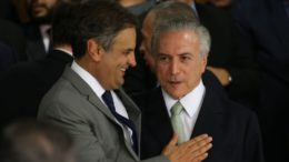 Encontro entre Aécio Neves e Michel Temer não estava previsto na agenda do presidente (Foto: Marcello Casal Jr/Agência Brasil)
