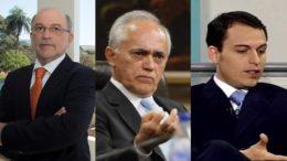 Aroldo Cedraz, Raimundo Carreiro e Tiago Cedraz eram investigados por favorecimento a empresa UTC (Foto: Divulgação)