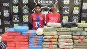 Arsenio Salino e Reinel Vagas receberam drogas de um grupo de colombianos (Foto: Vanessa Fontes/PC-AM)