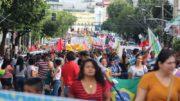 Trabalhadores em manifestação contra o governo Temer no ano passado, em Manaus. Novo protesto será realizado nesta sexta (Foto: Adua/Divulgação)