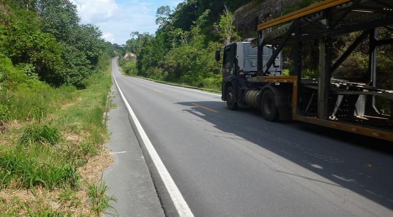 Melhores trechos foram identificados na BR-174, que liga Manaus a Boa Vista-RR, segundo a CNT (Foto: CNT/Divulgação)