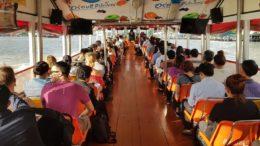 Projeto da Prefeitura de Manaus para transporte no Rio Negro foi inspirado em modelo usado em Bangkok (Foto Semcom/Divulgação)