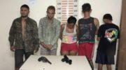 Suspeitos foram presos na manhã desta quarta-feira em Itacoatiara (Foto: PC/Divulgação)