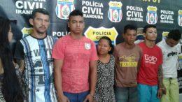 Sete integrantes de uma mesma família foram presos em Iranduba por suspeita de envolvimento com diversos crimes (Foto: PC-AM/Divulgação)