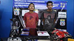 João Victor Andrade e Júlio César Ferreira (Foto: Raquel Alves/PC-AM/Divulgação)