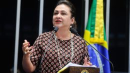 Senadora Kátia Abreu foi expulsa por unanimidade pelo conselho de ética do PMDB (Foto: Agência Senado)