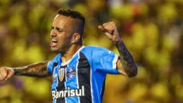Luan marcou golaço na vitória e conquista do Grêmio na Liertadores (Foto: Lucas Uebel/Grêmio/Divulgação)