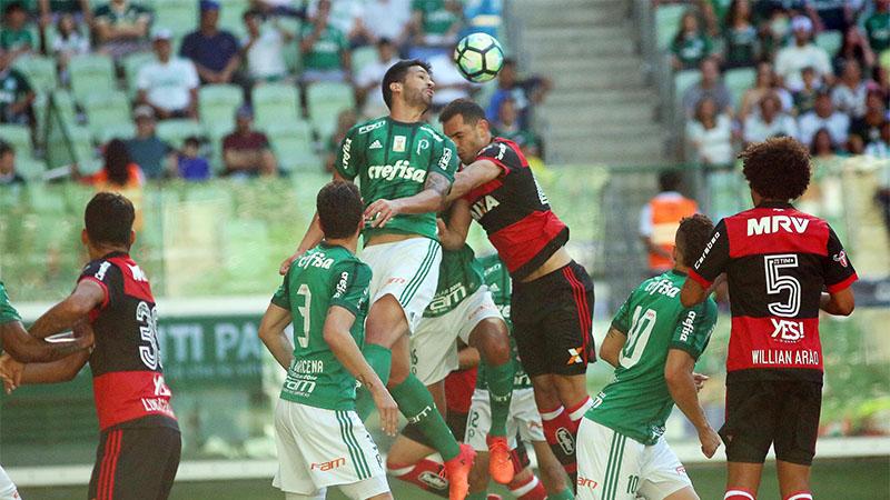 Palmeiras foi mais eficiente nas finalizações e garantiu vitória sobre o Fla (Foto: Gilvan de Souza/Flamengo.com)