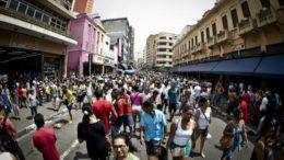 Em 2016, a população residente foi estimada em 205,5 milhões de pessoas pelo IBGE (Foto: Marcelo Camargo/Agência Brasil)