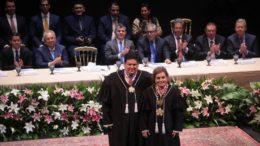 Ari Moutinho chefiará a Escola de Contas e Yara Lins comandará o tribunal (Foto: Erick Pereira/TCE-AM)